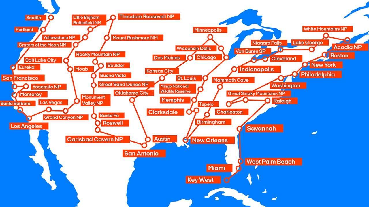 Amerikan Kiertomatka 48 Osavaltion Road Trip Kilroy