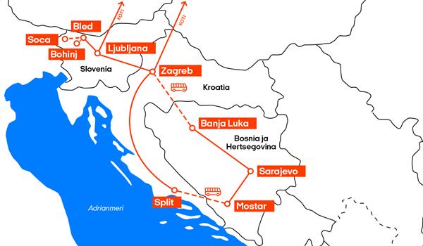 Junalla Euroopassa