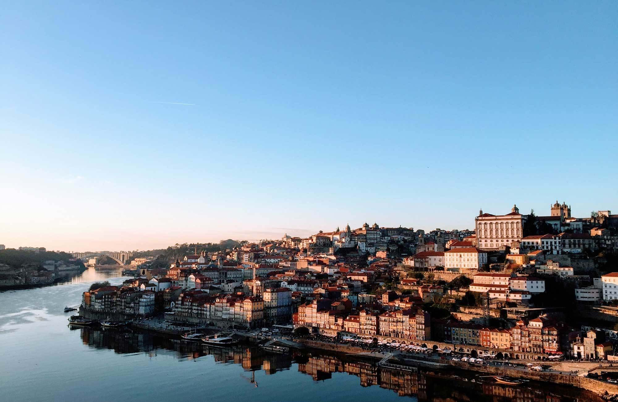 Portugal Porto Seen From Water